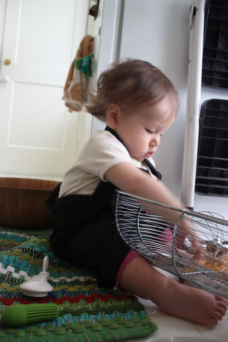 I've been helping Mommy out in the kitchen, so she gave me an apron and suggested I try out for Top Chef...