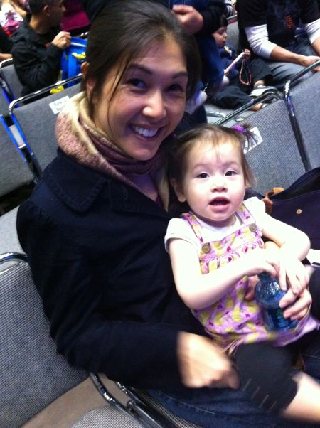 Me and Mommy before the show starts - I was so excited I could hardly sit still!