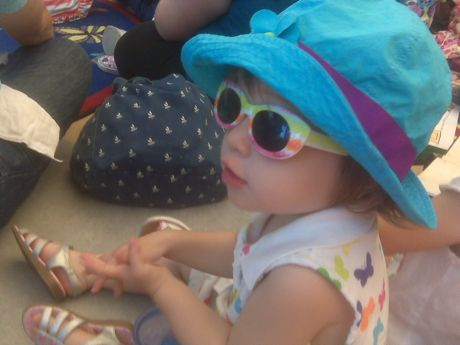 Apparently, Maile wears sunglasses at story time. Diva in training. Sweet.