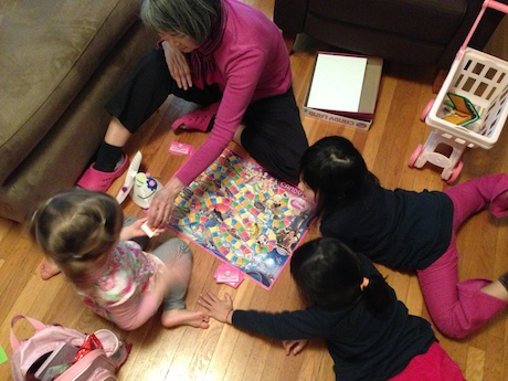 Katie and Emily speak mostly Japanese, but Candyland is a universal language apparently because we were able to play just fine!