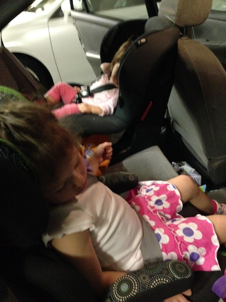 Mission accomplished - two little girls conked out!