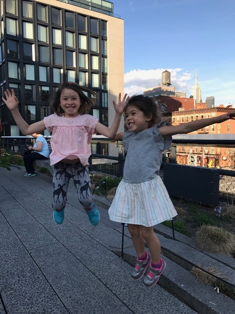 High jumping on the high line!