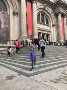 Maile Girl ready to get her art on at the Met