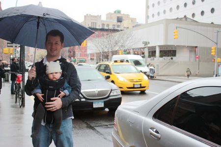 Daddy and I aren't going to let a little rain (or a lot in this case) hold us down...