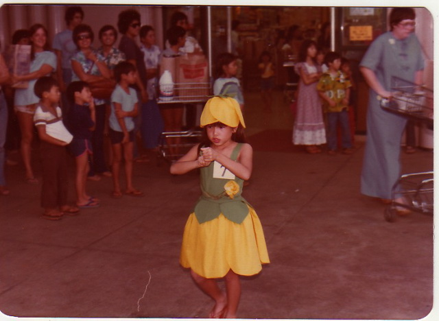 5 year old Mommy as a yellow flower