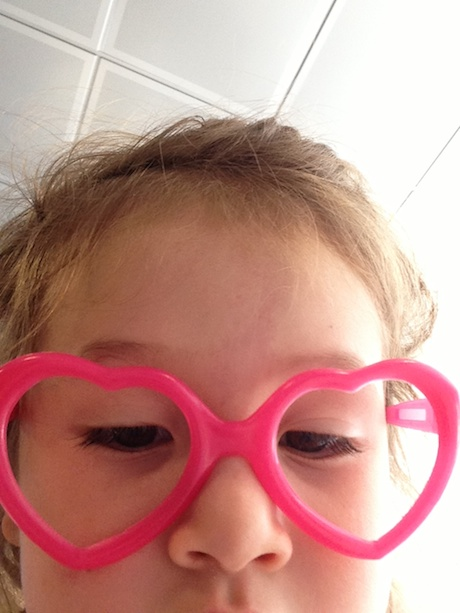 I found this picture on my phone - apparently, Maile was checking out her look using the camera... Yikes.