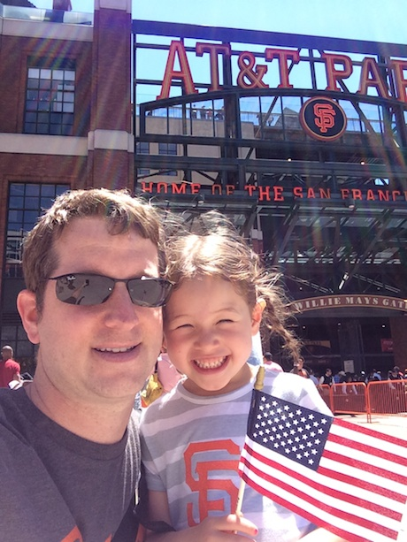 Daddy and Maile ready to rock AT&T Park!