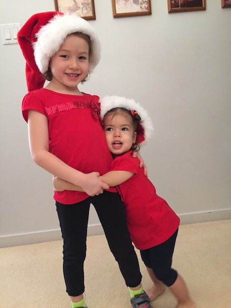 Our favorite Christmas elves, Maile and Lauren