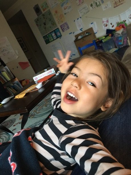 Goofing around with Daddy without any big sister distractions!