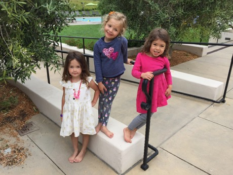 Younger sister posse - Willa, Kate and Lauren